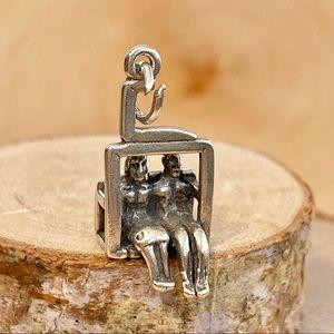 Vintage | Ski Lift Charm - Sterling Silver